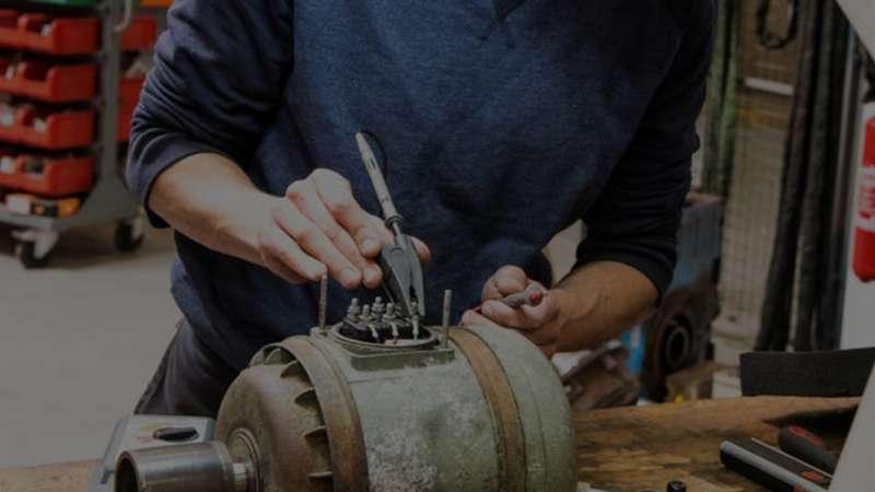 maintenance réparation moteur, pompe, ventilateur, variateur