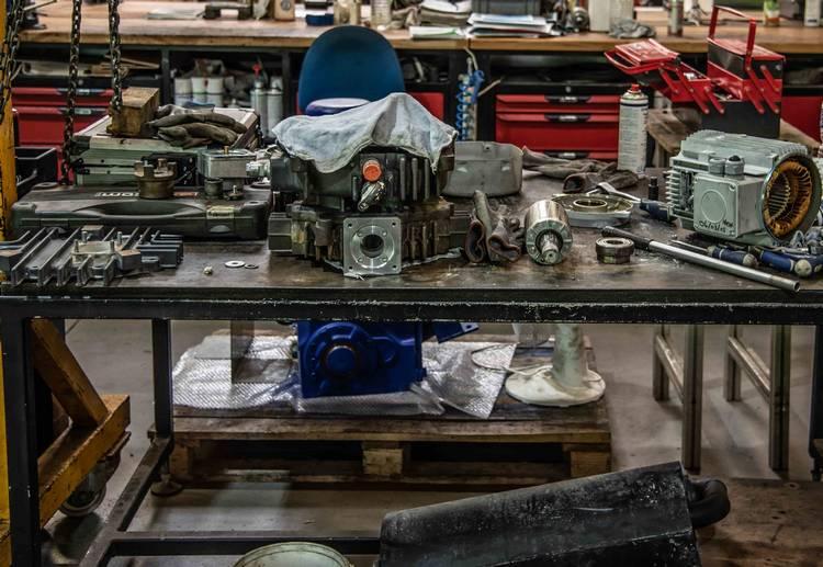 maintenance réparation pompe, réducteur, moteur